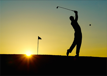golf_sunset