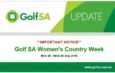Golf SA Women's Country Week