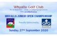 Whyalla Junior Open – Sunday Sept 27